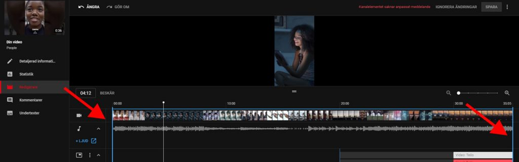 redigera video online youtube