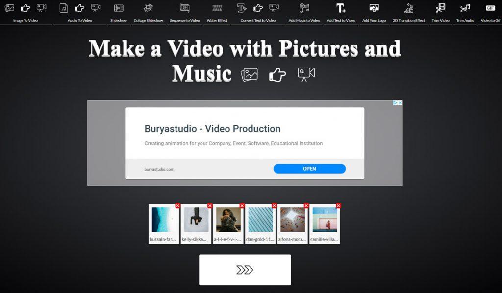 skapa film av bilder