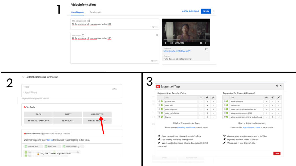 sökordsförslag youtube